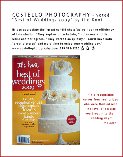 knotblog2 copy2 Costello Photography voted Best of Weddings 2008/2009